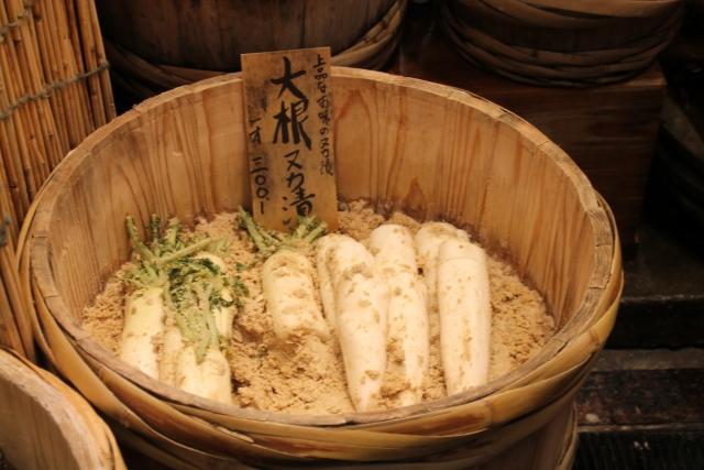 日本伝統の発酵食品、ぬか漬け