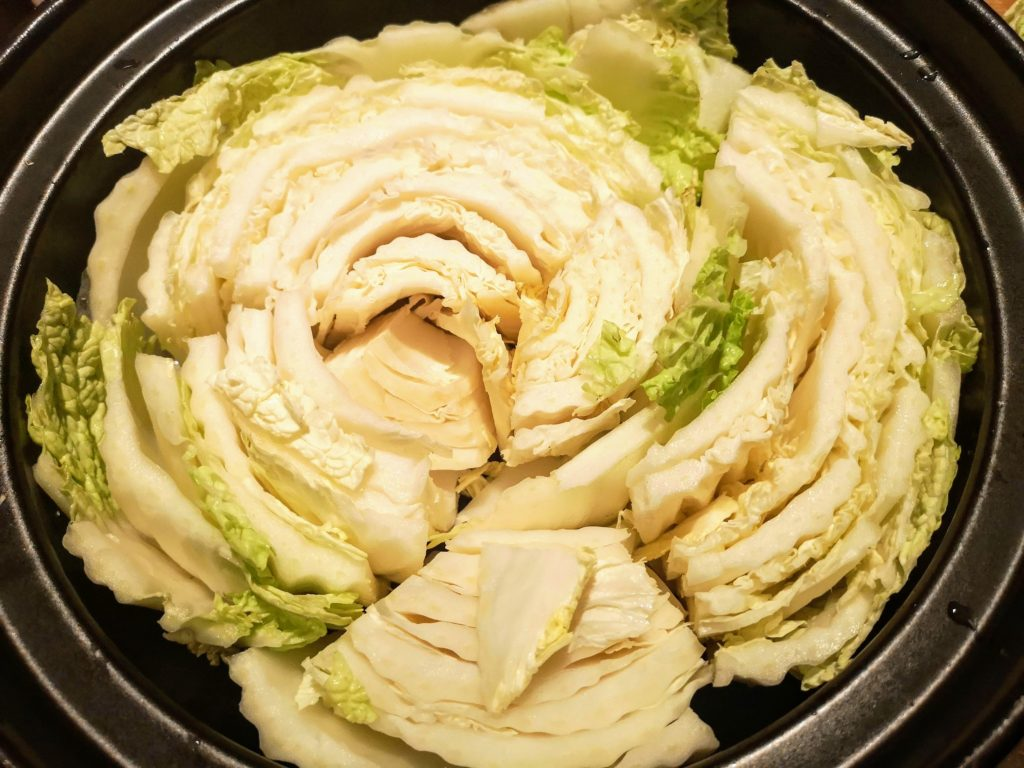 Hotpot with Chinese Cabbage and Pork marinated with Shio Koji