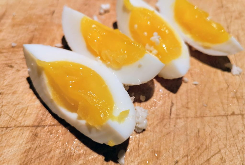 Tasting Pickled Eggs with Shio Koji: Day 5