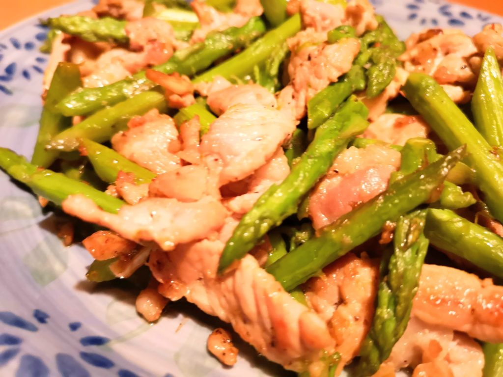 Stir-Fried Asparagus and Pork Marinated with Shio Koji - recipe